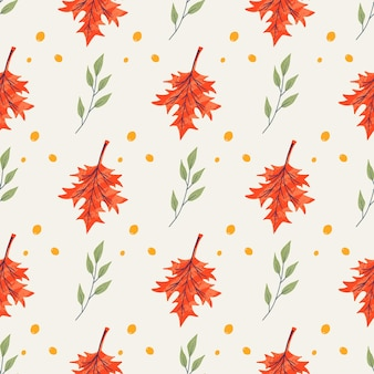 Modèle sans couture avec gland et feuilles d'érable, chêne, frêne. modèle de fond d'automne décoré d'éléments à la mode. illustration vectorielle naturelle plate pour la publicité, la promotion