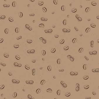 Modèle sans couture avec des grains de café. illustration vectorielle