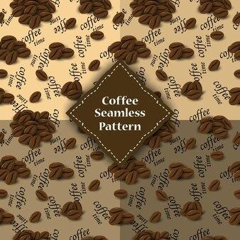 Modèle sans couture de grains de café pour involucre.