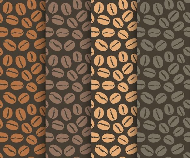 Modèle sans couture avec grains de café