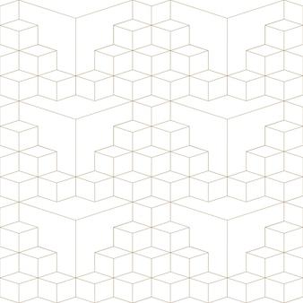 Modèle sans couture de grille 3d abstrait géométrique