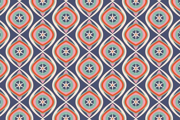 Modèle sans couture groovy géométrique bleu brillant
