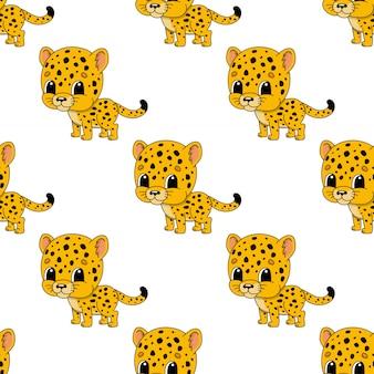 Modèle sans couture de guépard heureux