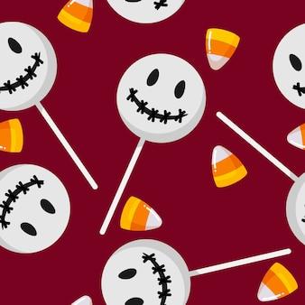 Modèle sans couture de halloween candy.