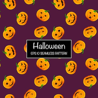 Modèle sans couture halloween avec des citrouilles