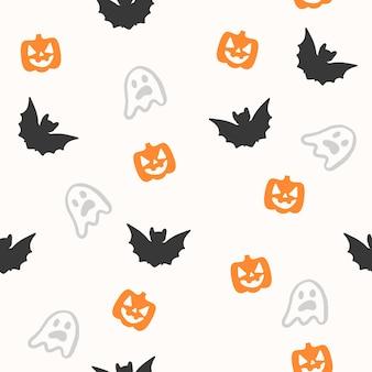 Modèle sans couture halloween effrayant