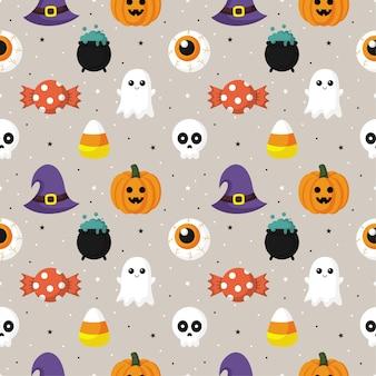 Modèle sans couture halloween heureux