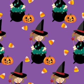 Modèle sans couture d'halloween