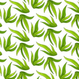 Modèle sans couture avec de l'herbe. dans un style cartoon. pour le design et la décoration.