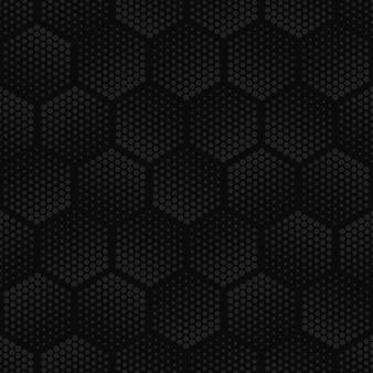 Modèle sans couture hexagonal de demi-teinte géométrique sombre.