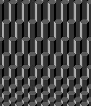 Modèle sans couture hexagone graphite abstrait