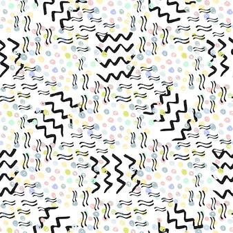 Modèle sans couture de hipster. fond de mode. vecteur pour impression, tissu, textile, emballage