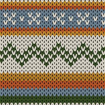 Modèle sans couture d'hiver pull en laine tricotée