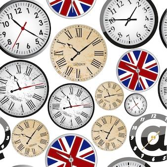 Modèle sans couture d'horloge
