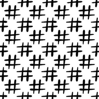 Modèle sans couture d'icône de hashtag. isolé sur fond blanc. illustration vectorielle