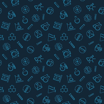Modèle sans couture avec des icônes d'aperçu de la chimie