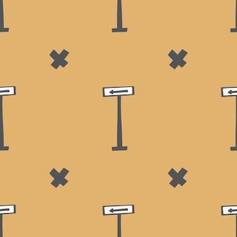 Modèle sans couture. illustration dessinée à la main enfantine de dessin animé. doodle coloré dans une palette limitée pour l'impression de tissus pour bébés, d'emballages, de papiers peints.