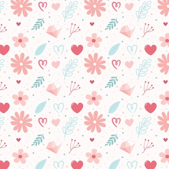 Modèle sans couture avec illustration de fleur mignon