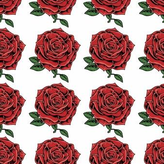 Modèle sans couture illustration avec rose