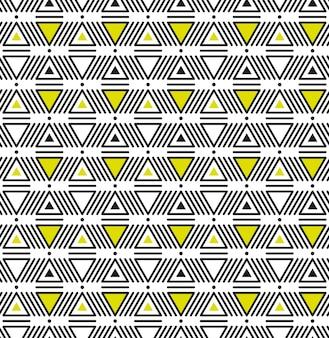 Modèle sans couture indigène ethnique américain avec des triangles