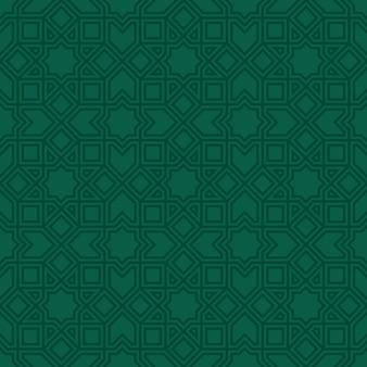 Modèle sans couture islamique de ligne ethnique