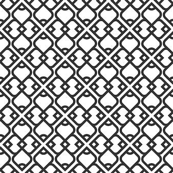 Modèle sans couture islamique noir et blanc
