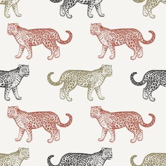 Modèle sans couture avec jaguar.