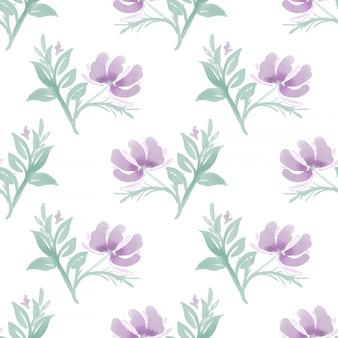 Modèle sans couture avec jolie fleur