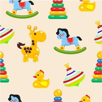 Modèle sans couture de jouets pour bébés.