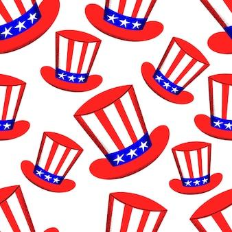 Modèle sans couture de la journée indépendante de l'amérique. illustrations festives de vecteur. 4 juillet
