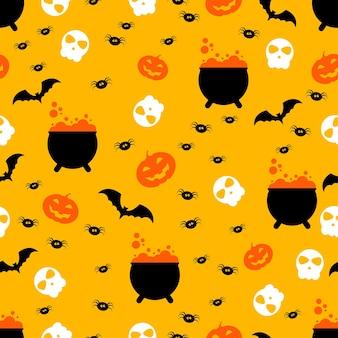 Modèle sans couture de joyeuses fêtes d'halloween pour emballer le papier peint de fête d'impression textile de tissu de papier