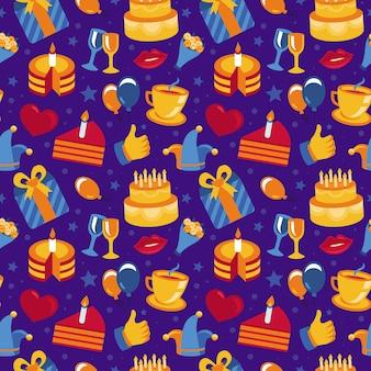 Modèle sans couture joyeux anniversaire