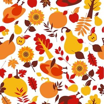 Modèle sans couture de joyeux jour de thanksgiving.