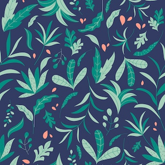 Modèle sans couture de jungle tropicale