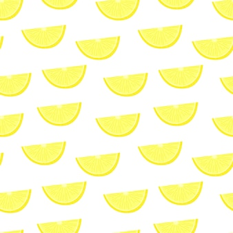 Modèle sans couture juteux d'agrumes de citron modèle jaune en tranches d'orange texture de fruits lumineux