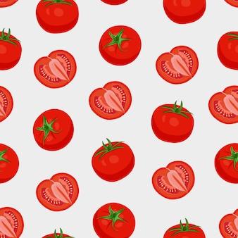 Modèle sans couture de légumes tomate