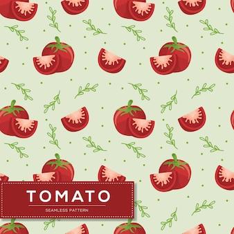 Modèle sans couture avec légumes tomates