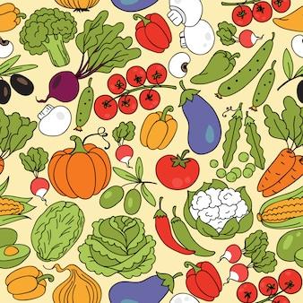 Modèle sans couture de légumes