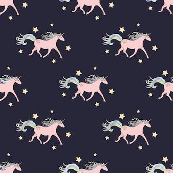 Modèle sans couture avec des licornes