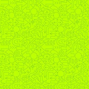 Modèle sans couture de ligne de direction de flèche. illustration vectorielle de fond de contour.