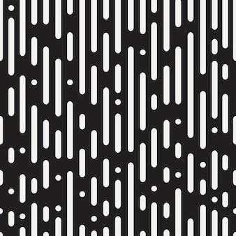 Modèle sans couture de lignes arrondies. abstrait noir et blanc. illustration vectorielle.