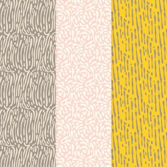 Modèle sans couture de lignes arrondies couleurs chaudes et gris