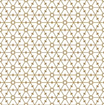 Modèle sans couture en lignes moyennes d'or.