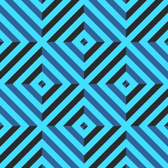Modèle sans couture avec losange et lignes diagonales