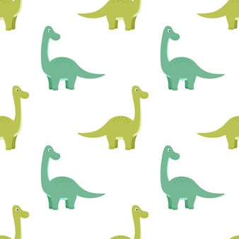 Modèle sans couture lumineux avec des dinosaures, illustration vectorielle