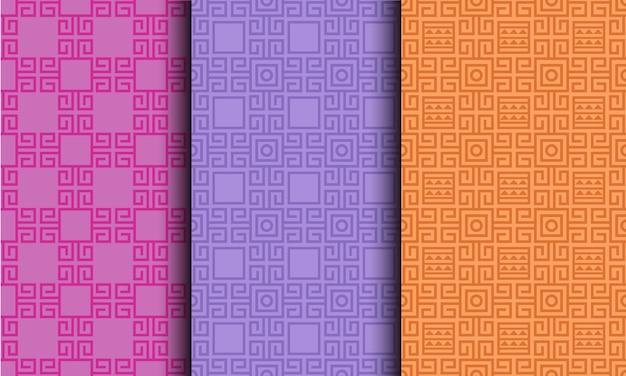 Modèle sans couture lumineux de style tribal géométrique abstrait