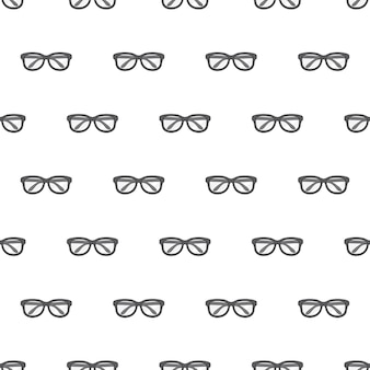 Modèle sans couture de lunettes. illustration de thème de lunettes noires