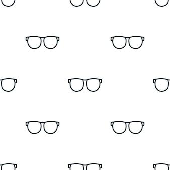 Modèle sans couture de lunettes de ligne. fond de concept de lunettes créatives. texture d'icône simple de lunettes de la collection d'accessoires