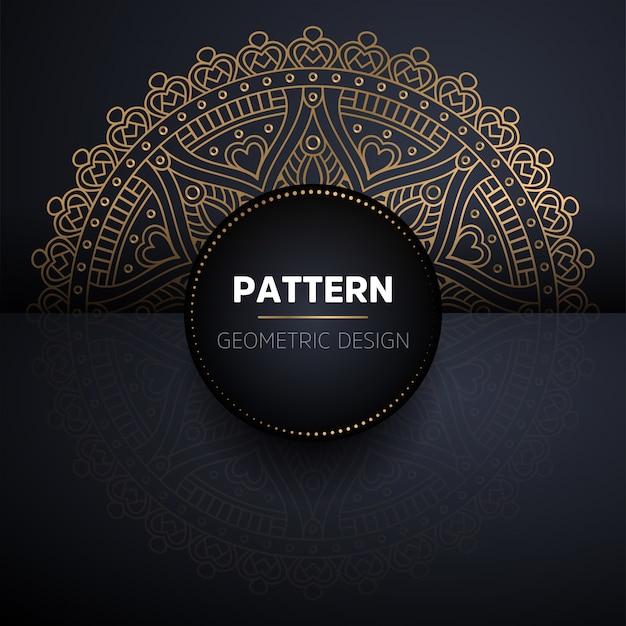 Modèle Sans Couture De Luxe Mandala Or Ornemental Vecteur gratuit
