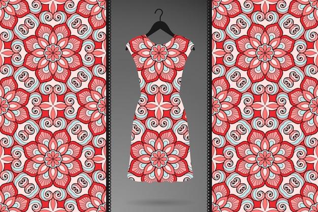 Modèle sans couture de luxe mandala ornemental en couleur or